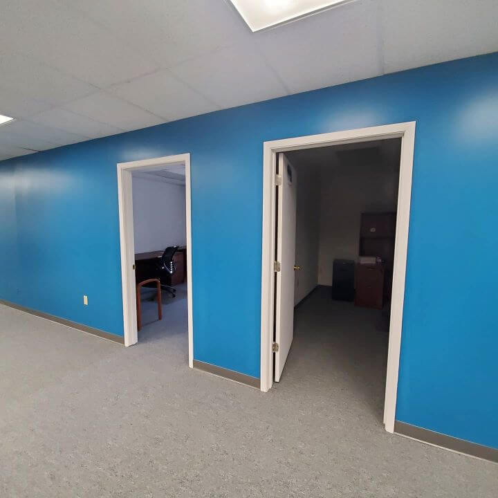 office painted blue